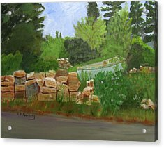 Acrylic Print featuring the painting High And Dry by Linda Feinberg