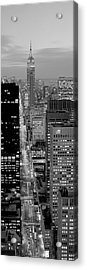 High Angle View Of A City, Fifth Avenue, Midtown Manhattan, New York City, New York State, Usa Acrylic Print by Panoramic Images
