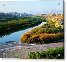 High Angle View Of Rio Grande Flood Acrylic Print
