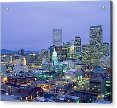 High Angle View Of The State Capitol Acrylic Print by Panoramic Images