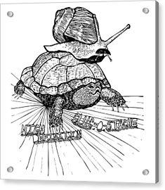 High Definition Slug O Stache Acrylic Print by Karl Addison