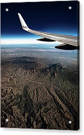 Acrylic Print featuring the photograph High Desert From High Above by T Brian Jones