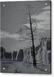 Acrylic Print featuring the painting High Desert Skeleton by Nancy Jolley