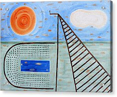 High Dive Acrylic Print by Patrick J Murphy