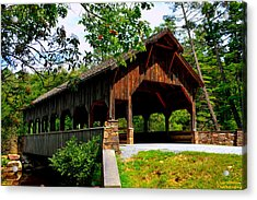 High Falls Covered Bridge Acrylic Print