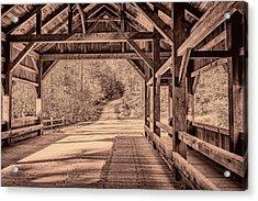 High Falls Covered Bridge Acrylic Print