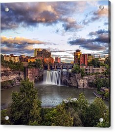 Acrylic Print featuring the photograph High Falls Crop by Mark Papke