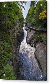 Acrylic Print featuring the photograph High Falls Gorge Adirondacks by Mark Papke