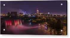High Falls Light Show Acrylic Print