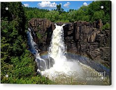 High Falls On Pigeon River Acrylic Print