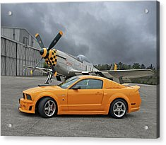 High Flyers - Mustang And P51 Acrylic Print