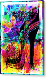 High Heel Heaven Abstract Acrylic Print by Jolanta Anna Karolska
