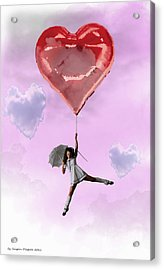High In Love Acrylic Print by Crispin  Delgado