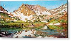 High In The Rockies Acrylic Print