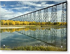 High Level Bridge In Lethbridge Acrylic Print by Tom Buchanan
