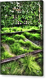 High Line Nyc Railroad Tracks Acrylic Print