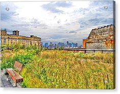 High Line On The Hudson Acrylic Print by Randy Aveille