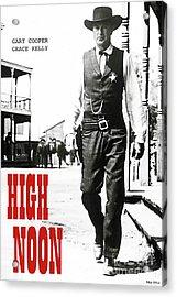 High Noon, Gary Cooper Acrylic Print