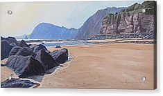 High Peak Cliff Sidmouth Acrylic Print