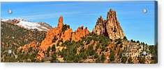 Acrylic Print featuring the photograph High Point Panorama At Garden Of The Gods by Adam Jewell