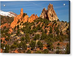 Acrylic Print featuring the photograph High Point Rock Towers by Adam Jewell
