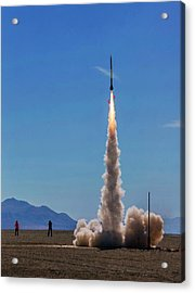 Acrylic Print featuring the photograph High Power Rocket Certification Flight by Peter Thoeny