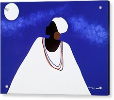High Priestess I Acrylic Print by Synthia SAINT JAMES
