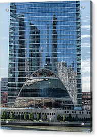 High Rise Reflections Acrylic Print by Alan Toepfer