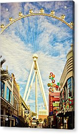 High Roller Wheel, Las Vegas Acrylic Print