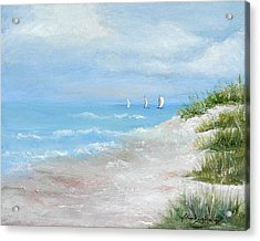 High Sails Acrylic Print by Shirley Lawing