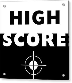 High Score- Art By Linda Woods Acrylic Print by Linda Woods