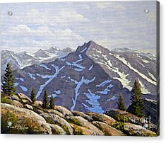 High Sierras Study Acrylic Print by Frank Wilson