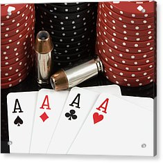 High Stakes Poker Acrylic Print
