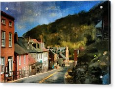 High Street In The Early Evening Acrylic Print by Lois Bryan