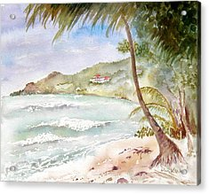 High Surf At Brewers Acrylic Print