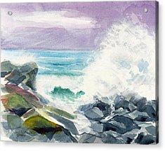 High Surf Acrylic Print by Joan Hartenstein