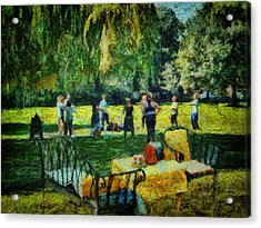 High Tea Tai Chi Acrylic Print