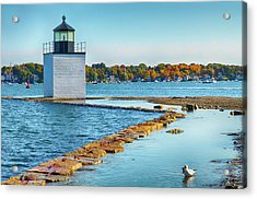Acrylic Print featuring the photograph High Tide At Derby Wharf In Salem by Jeff Folger