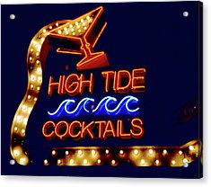 Acrylic Print featuring the photograph High Tide Cocktails by Matthew Bamberg