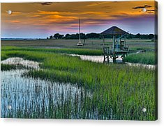 High Tide On The Creek - Mt. Pleasant Sc Acrylic Print