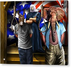 High Treason - State Of The Union-a House Divided1 Acrylic Print by Reggie Duffie