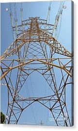 High Voltage Pylon Acrylic Print by George Atsametakis