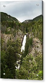 Acrylic Print featuring the photograph High Water At Fish Creek Falls by Daniel Hebard