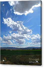 High Winds Chase The Rain Clouds Away Acrylic Print by Annie Gibbons