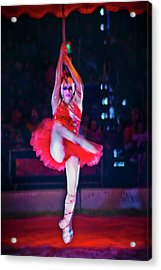 High Wire In Red Acrylic Print