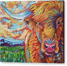 Highland Breeze Acrylic Print by Jenn Cunningham