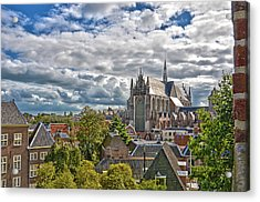 Highland Church Seen From Leiden Castle Acrylic Print