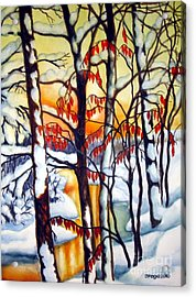 Acrylic Print featuring the painting Highland Creek Sunset 1 by Inese Poga