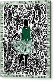 Acrylic Print featuring the digital art Highland Dancing by Darren Cannell