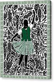 Highland Dancing Acrylic Print